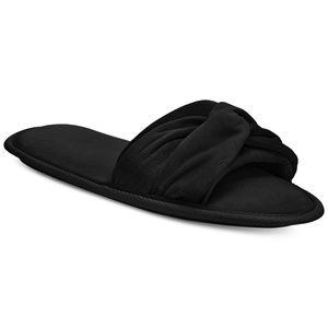 Charter Club Twisted Open Toe Velour Slippers